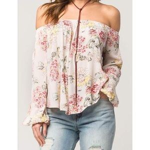 Billabong Floral Off the Shoulder top blouse
